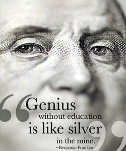 benjamin franklin education