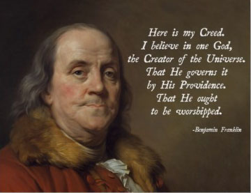 benjamin franklin on religion