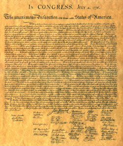 declaration of independence benjamin franklin